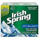 Irish Spring Men's Deodorant Soap Bar, Icy Blast - 24 Count