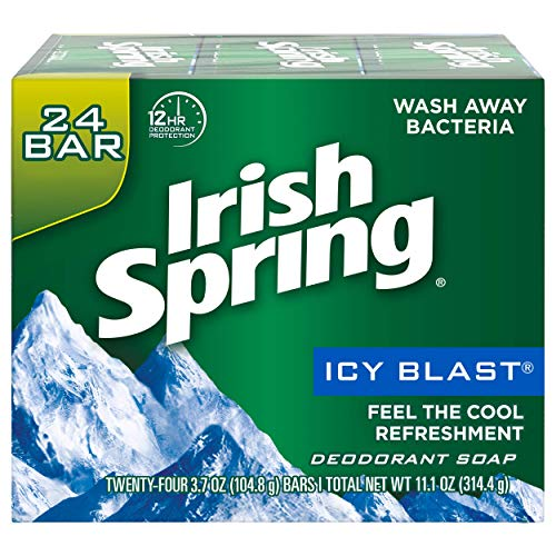 Irish Spring Icy Blast Bar Soap, 3 Count (Pack of 8)