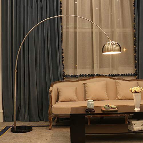 LAMP-XUE staande lamp, modern arc staande lamp woonkamer lezen verstelbare staande leeslamp met marmeren fitting, voor woonkamer bank (9W LED-lamp)