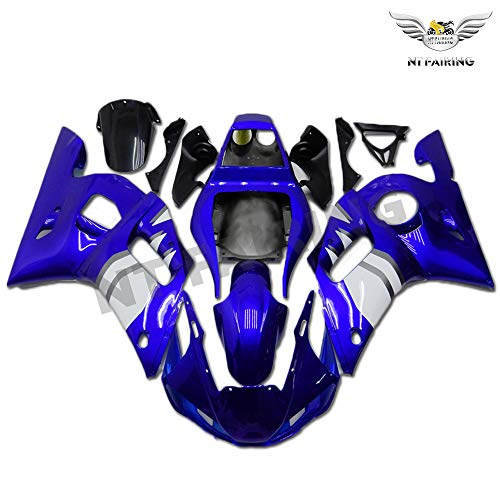 New Blue White Fairing Fit for YAMAHA 1998-2002 YZF R6 Injection Mold ABS Plastics New Bodywork Bodyframe 1999 2000 2001 A002