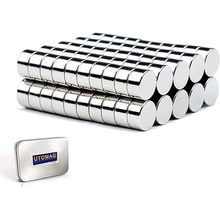 Petits Aimants de Réfrigérateur – 6mm x 3mm - Mini Aimant en Néodyme Ultra Puissant pour Frigo, Surfaces Magnétiques, Tableau Blanc Interactif, Images, Bricolage, Porte, Carte (50 pièces)