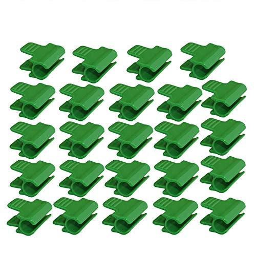 JYCRA Folienklemmen für Gewächshaus, Folie, Netz, Tunnel, Kunststoff, für Außendurchmesser 11 mm, 24 Stück