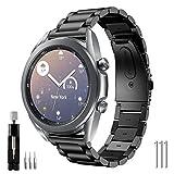 YSSNH Acero Inoxidable Correa Compatible para Samsung Active,Galaxy Watch 3 41mm Metal Banda Active2 40mm/44mm Correa de Reloj de Liberación Rápida de 20mm Pulsera de Repuesto para Galaxy Watch 42mm