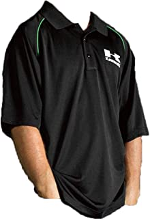 Kawasaki Men's Plan of Action Polo T-Shirt (Black, Medium)