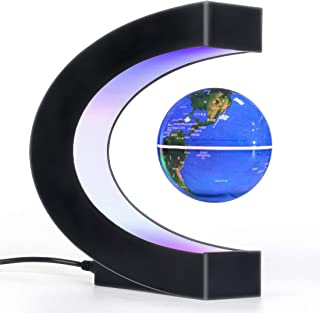 Magnetic Levitation Floating Globe with LED Light, Desk Gadget Decor, Fixture Floating Globes & Shade, Cool Tech Gifts for...