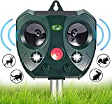 Solar Ultrasonic Animal Repellent Outdoor- Garden Deer Away Repeller for Trees, Solar Powered Motion Sensor Activated...