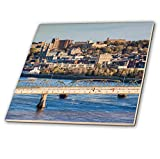 3dRose Canada, Quebec, Saguenay-Chicoutimi. Elevated city view - Tiles (ct_329957_1)