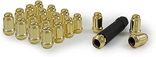 Gorilla Automotive 21133GD Acorn Gold Small Diameter Lugs (12mm x 1.50 Thread Size) - Pack of 20