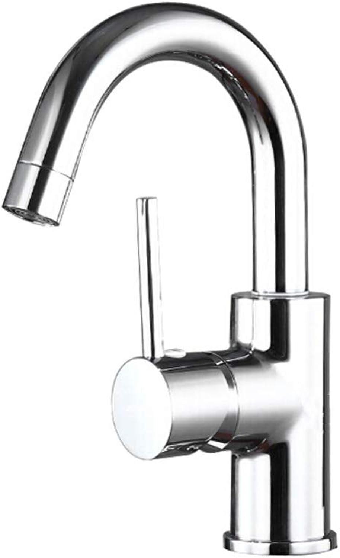 SUA_ONG Küchenarmaturen Wasserhahn Küchenarmatur Einhebel-Spüle Spültischarmaturen Doppelhebel Schwenker Keramik-Hebel-Auslauf Mischbatterie Mit Standardarmaturen (Farbe   Single hole)