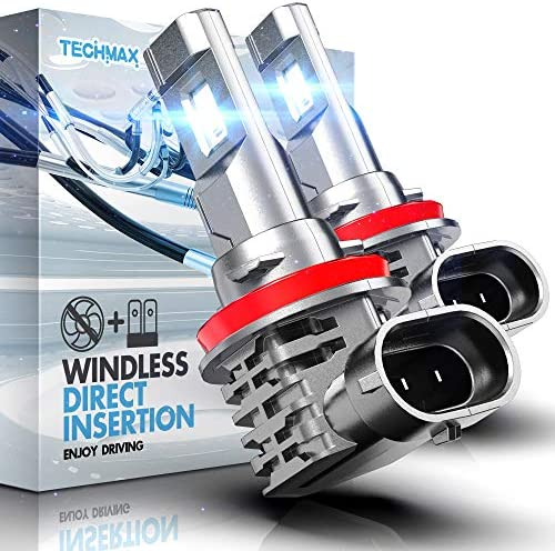 TECHMAX H11 LED Headlight Bulb Windless Direct Insertion 50W 6500K Xenon White CREE Chips H8 product image