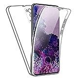 SDTEK Hülle für Samsung Galaxy S20 FE (Fan Edition) Full Body Front Und Rückenschutz 360 Schutzhülle Cover Clear Transparent Soft