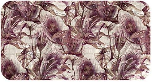 HDFGD Badkamer tapijt Mat 27x15 Extra zachte tapijten Machine Wash Droog Perfect Pluche Tapijt Matten voor Tub Douche en Badkamer Tropische Bloem