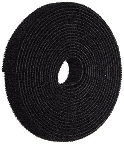 C2G 29852 Hook-and-Loop Cable Wrap, TAA Compliant, Black (10 Feet, 3.04 Meters)