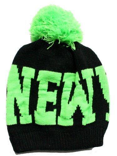 ACC Unisexe Enfants New York d'hiver Bonnet/bonnet tricoté avec pompon – Couleurs - Multicolore - One Size