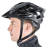 Trespass Crankster, Black, L/XL, Adjustable Cycle Safety Helmet with Ventilation, Large / X-Large, Black