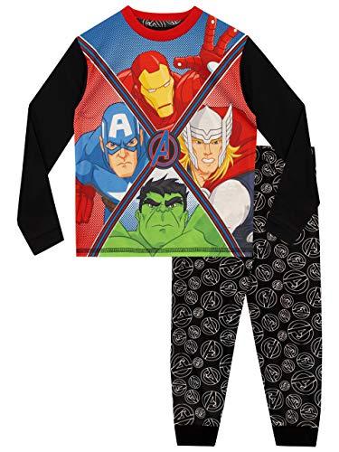 Marvel Pijamas de Manga Corta para niños Avengers Multicolor 7-8 Años