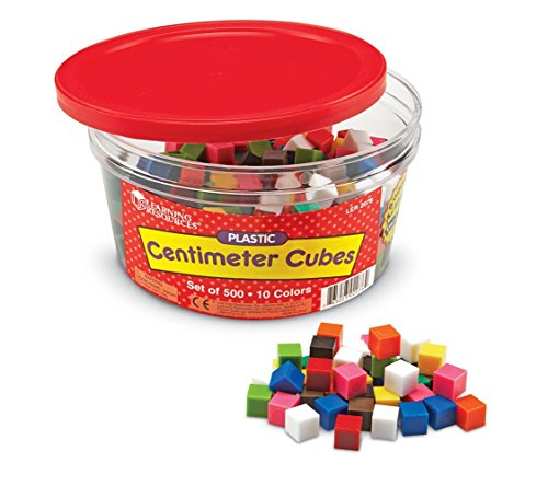 Learning Resources Centimeter Cubes, Counting/Sorting Toy, Assorted Colors, Set of 500, Ages 6+