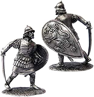 Military-historical miniatures Byzantine infantryman 13 century Tin Metal 54mm Action Figures Toy Soldiers Size 1/32 Scale for Home Décor Accents Collectible Figurines ITEM #P11