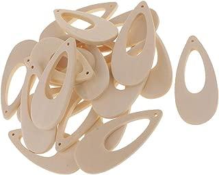 50pcs Wood Earrings Charms Water Drop Earrings Jewelry Findings for Women Earrings Necklace Making