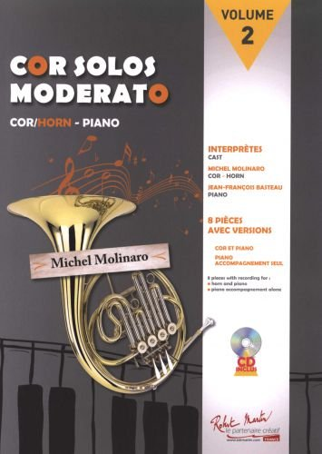 Michel Molinaro-Cor Solos Moderato Volume 2-BOOK+PART
