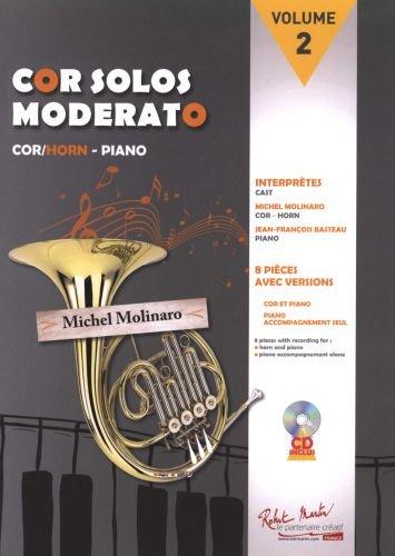 Michel Molinaro-Cor Solos Moderato Volume 2-BOOK+PART