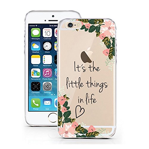 Funda Fanty compatible con iPhone 6 Plus/6sPlus Little Things, funda protectora transparente alrededor de la protección de dibujos animados M15