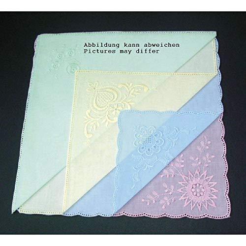 Nähstübl 4 Stück Taschentücher zum umhäkeln ca. 25x25 cm farbig Sortiert