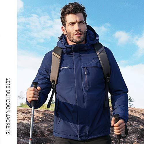 51sguRjJ65L. SS500  - CAMEL CROWN Men's Mountain Snow Waterproof Ski Jacket Detachable Hood Windproof Fleece Parka Rain Jacket Winter Coat