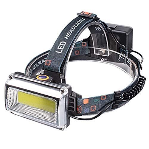 Linterna Frontal Recargable, Linterna LED, Muy Adecuada para Correr, Hacer Senderismo, Ligera, Impermeable, Diadema Ajustable