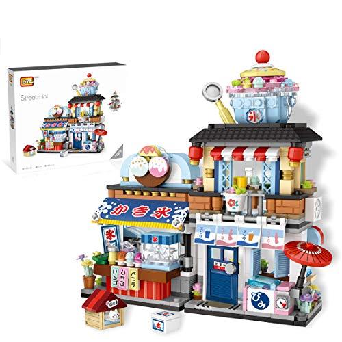 Morton3654Mam Set da 668 pezzi in stile giapponese per rasatura, architettura, mini blocchi da costruzione, set di giocattoli regalo