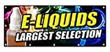 E-Liquids Largest Selection Sticker Sign Vapes E-Cigs Rolling Paper Head Sticker Sign - Sticker Graphic Sign - Will Stick to Any Smooth Surface