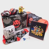 Culturefly Super Mario Bowser Collector Gift Box | Comes with 7 Exlcusive Items: Bowser Vinyl Figure, Chain Chomp Keychain, Thwomp Plush Pillow & More