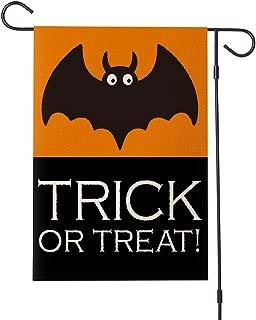 MFGNEH Halloween Decorations Bat Trick OR Treat Garden Flag Double Sided 12.5x18 Inch,Farmhouse Halloween Garden Yard Flag