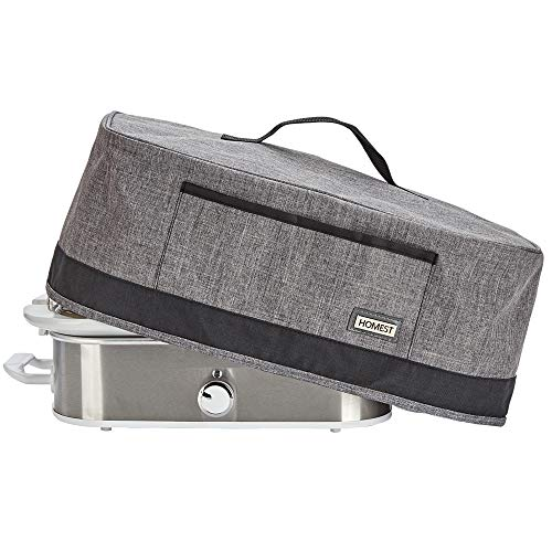 HOMEST Slow Cooker Anti Oil Dust Cover Compatible with Crock Pot 3.5 Quart, These Cover Have Front Pocket for Recipe and Spoon, Grey (Patent Pending)