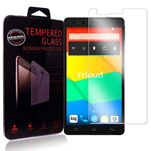 Ycloud Panzerglas Folie Schutzfolie Bildschirmschutzfolie für BQ Aquaris E6 screen protector mit Festigkeitgrad 9H, 0,26mm Ultra-Dünn, Abger&ete Kanten