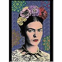 "FRIDA KAHLO PURPLE MOSAIC FRIDGE MAGNET - Mexican Painter Frida Kahlo Decorative Artwork Fridge Magnet - 2.5"" x 3.5"""