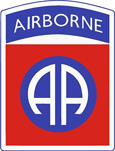 ExpressDecor (3) 82nd Airborne Division 2x1 Size - Stickers for constrution Hard hat pro Union Working Men Lunch Box Tool Box Symbol Window Motorcycle Biker car - Made and Shipped in USA