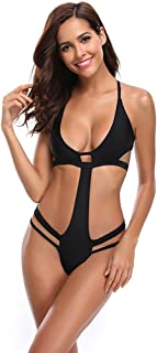 Mercantil Express Sexy One Piece Swimsuit Beach Wear Women Black Open Back Monokinis Biquinis Mujer