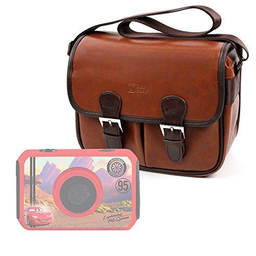 DURAGADGET Bolsa Profesional marrón con Compartimentos para cámara de niño Ingo Devices Hello Kitty   Minni   Violetta   Sakar Hello Kitty