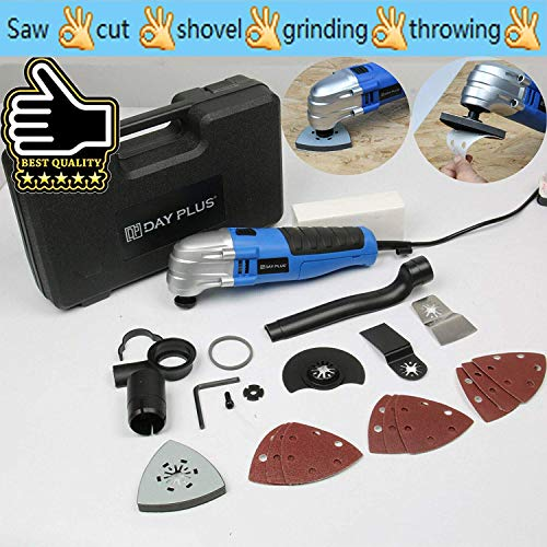 Lowest Prices! Oscillating Multi Tool, 180W, with End Accessory Blade & Sanding Kit Power Corded Det...