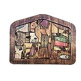 Crewell Rompecabezas de madera de Jesús de la Natividad con diseño quemado de madera Accesorios de decoración para el hogar para niños