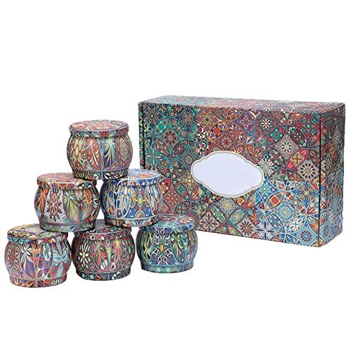 Juego de 6 velas perfumadas, juego de velas de aromaterapia, 100 cera de soja, limón, gardenia, vainilla, jazmín, romarino, lavanda regalos de Navidad para Yoga, aromaterapia, alivio del estrés