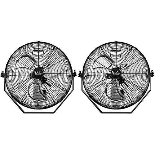 Simple Deluxe 18 Inch Industrial Wall Mount Fan, 3 Speed Commercial Ventilation Metal Fan for Warehouse, Greenhouse, Workshop, Patio, Factory and Basement - High Velocity, Black