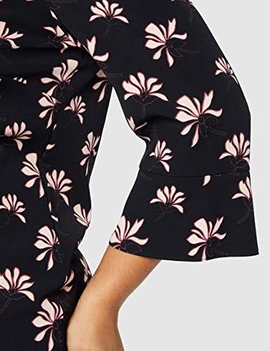 GERRY WEBER Damen Kleid Vintage Flower Mehrfarbig (Indigo/ Merlot/Elfenbein 8144), 44 - 7