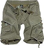 Brandit Vintage Shorts Basic Pantalones Cortos, Verde Oliva, L para Hombre