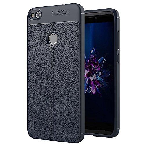 FXH Recortes precisos P8 for Huawei Lite (2017) Litchi Textura TPU Protector Caso de la contraportada taizhan (Negro) Más portátil (Color : Navy Blue)