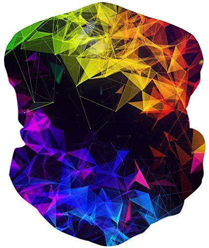 Loveternal Geometrie Multifunktionstuch Geometry Kopftuch Halstuch Sport-Halstuch,Schlauchtuch,Schal,Stirnband, Bikertuch,Unisex,Schnelltrocknend Winddicht Face Scarf für Staub, im Freien, Festivals