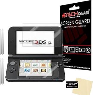 TECHGEAR [2-pack] skärmskydd för Nintendo 3DS XL Top & Bottom - Genomskinligt skärmskydd kompatibelt med NINTENDO 3DS XL -...