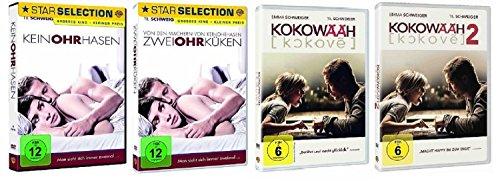 Keinohrhasen + Zweiohrküken + Kokowääh Teil 1 + Kokowääh Teil 2 / DVD Set / 4 Filme