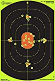 Splatterburst Targets - 12 x 18 inch Bullseye Reactive Shooting Target - Shots Burst Bright Fluorescent Yellow Upon Impact - Gun - Rifle - Pistol - Airsoft - BB Gun - Pellet Gun - Air Rifle (25 Pack)